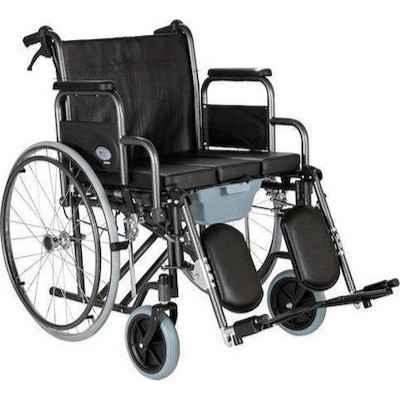 Αναπηρικό αμαξίδιο με δοχείο WC & ανυψούμενα υποπόδια | Πλάτος καθίσματος 49 cm