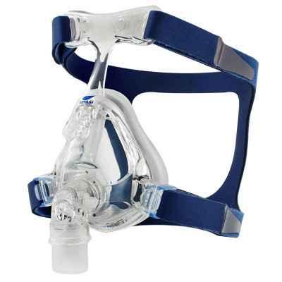 Στοματορινική μάσκα σιλικόνης Sefam Breeze+ για CPAP - BiPAP. Διατίθεται με κεφαλοδέτη
