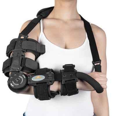 Νάρθηκας αγκώνος λειτουργικός με παλαμιαία ακινητοποίηση Comfort Plus