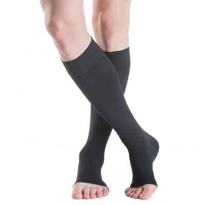 Κάλτσες Sigvaris TFS 702 σε μαύρο χρώμα με ανοικτά δάκτυλα