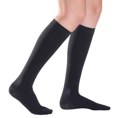 Κάλτσες Sigvaris Top Fine Select μπεζ με κλειστά δάκτυλα σε μαύρο χρώμα