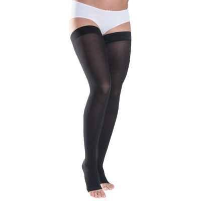 Κάλτσες ριζομηρίου Sigvaris TFS 701 με ανοιχτά δάκτυλα σε μαύρο χρώμα