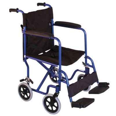 Αναπηρικό αμαξίδιο μεταφοράς μπλε αλουμινίου ΜΟΒΙΑΚ 0808472