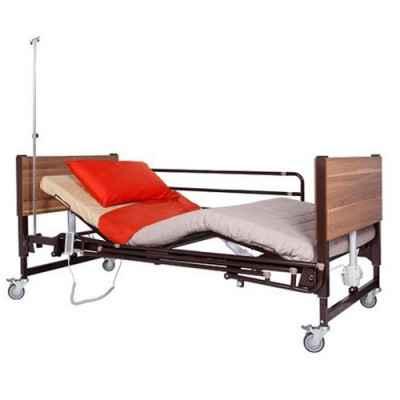 Ηλεκτρικό νοσοκομειακό κρεβάτι MBC καφέ