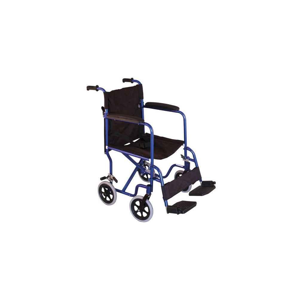 Αναπηρικό αμαξίδιο μεταφοράς μπλε αλουμινίου Mobiak 0808472
