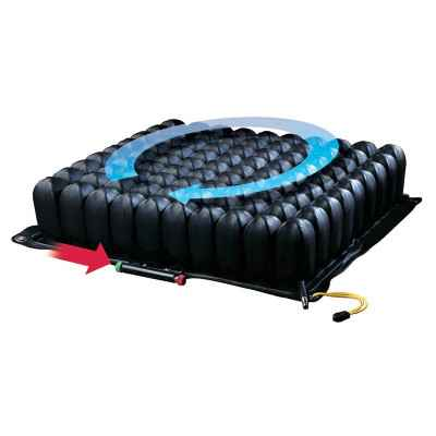 Με το πάτημα ενός κουμπιού ο αέρας κυκλοφορεί ελεύθερα σε ολόκληρο το μαξιλάρι (τεχνολογία Isoflo®)