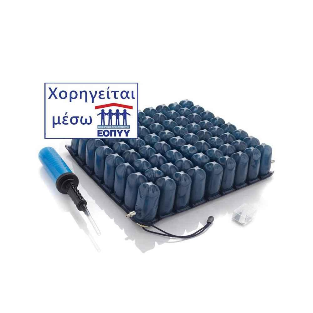 Μαξιλάρι κατακλίσεων Moretti με αεροκυψέλες για αναπηρικό αμαξίδιο. Χορηγείται από τον ΕΟΠΥΥ