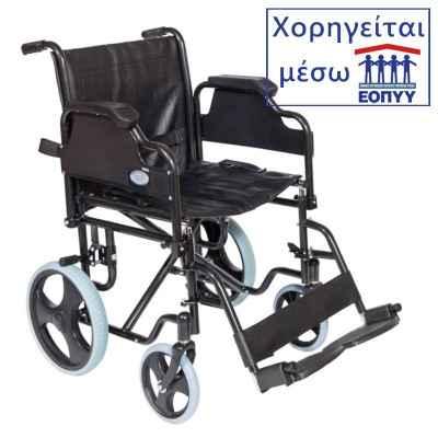 Αναπηρικό αμαξίδιο εσωτερικού χώρου με μεσαίες ρόδες Mobiak 0806778. Χορηγείται μέσω ΕΟΠΥΥ