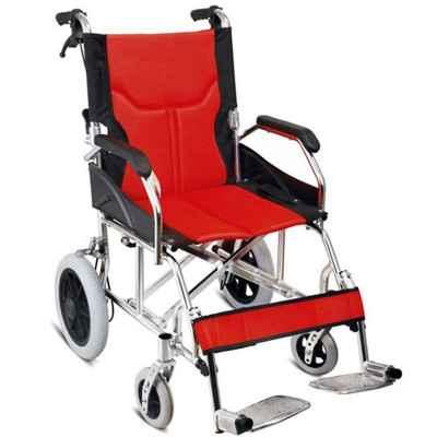 Αναπηρικό αμαξίδιο αλουμινίου μεταφοράς Vita 09-2-004 (VT401) σε κόκκινο-μαύρο