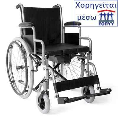 Το αναπηρικό αμαξίιδιο διαθέτει θέση με προσθαφαιρούμενο δοχείο WC που πλένεται