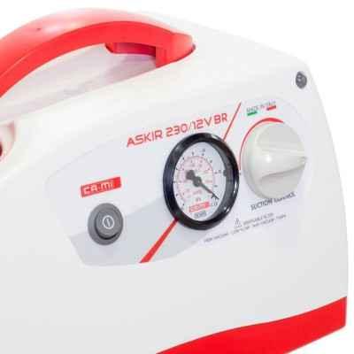 Η αναρρόφηση μπαταρίας - ρεύματος New Askir 230/12V BR διαθέτει διακόπτη ρύθμισης της πίεσης