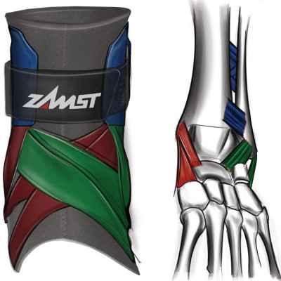 Η Αθλητιατρική επιστραγαλίδα Zamst A2-DX παρέχει κορυφαία προστασία στους συνδέσμους κατά την άθληση