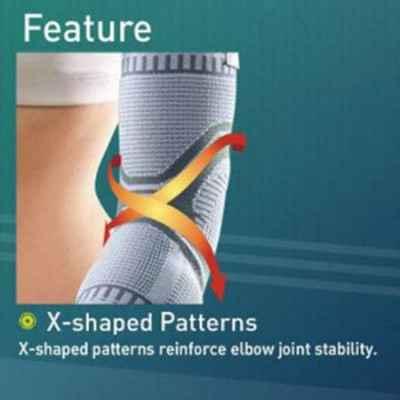 Πλέξη X-Shaped στην πρόσθια πλευρά που παρέχει παρόμοιο αποτέλεσμα με την οκτοειδή περίδεση για καλύτερη σταθεροποίηση
