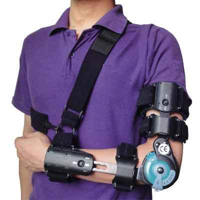 Τηλεσκοπικός λειτουργικός νάρθηκας αγκώνα με γωνιόμετρο Mobiakcare Αριστερός