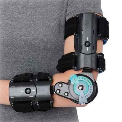Λειτουργικός νάρθηκας αγκώνα με γωνιόμετρο Mobiakcare για αριστερό χέρι
