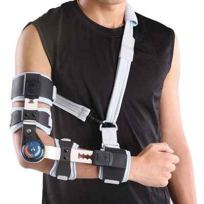 Τηλεσκοπικός λειτουργικός νάρθηκας αγκώνα με γωνιόμετρο Wellcare (Vita)