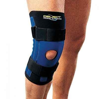 Επιγονατίδα με πλαϊνές εύκαμπτες σπειροειδείς μπανέλες για κακώσεις των πλαγίων συνδέσμων του γόνατος