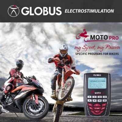 Ο ηλεκτροδιεγέρτης Globus Moto Pro έχει συνολικά 256 προγράμματα εκ των οποίων τα 32 είναι ειδικά για αθλήματα motorcycling