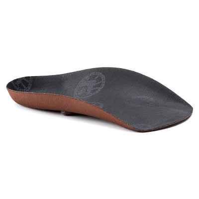 Τα ανατομικά πέλματα πλατυποδίας 3/4 Birkenstock Footbed® Black παρέχουν ιδανική υποστήριξη στην ποδική καμάρα και την πτέρνα