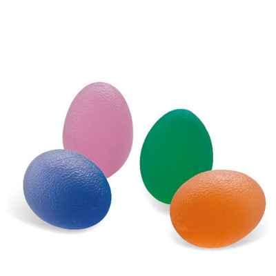 Μπαλάκια ενδυνάμωσης χεριού οβάλ σε 4 χρώματα με διαφορετική σκληρότητα