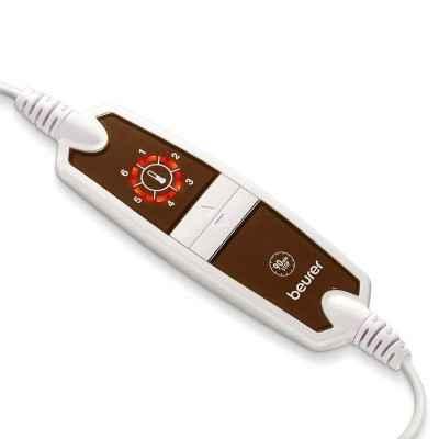 Η ηλεκτρική θερμοφόρα Beurer HK125 Cosy XXL διαθέτει αποσπώμενο χειριστήριο και 6 επίπεδα θέρμανσης με φωτεινή ένδειξη