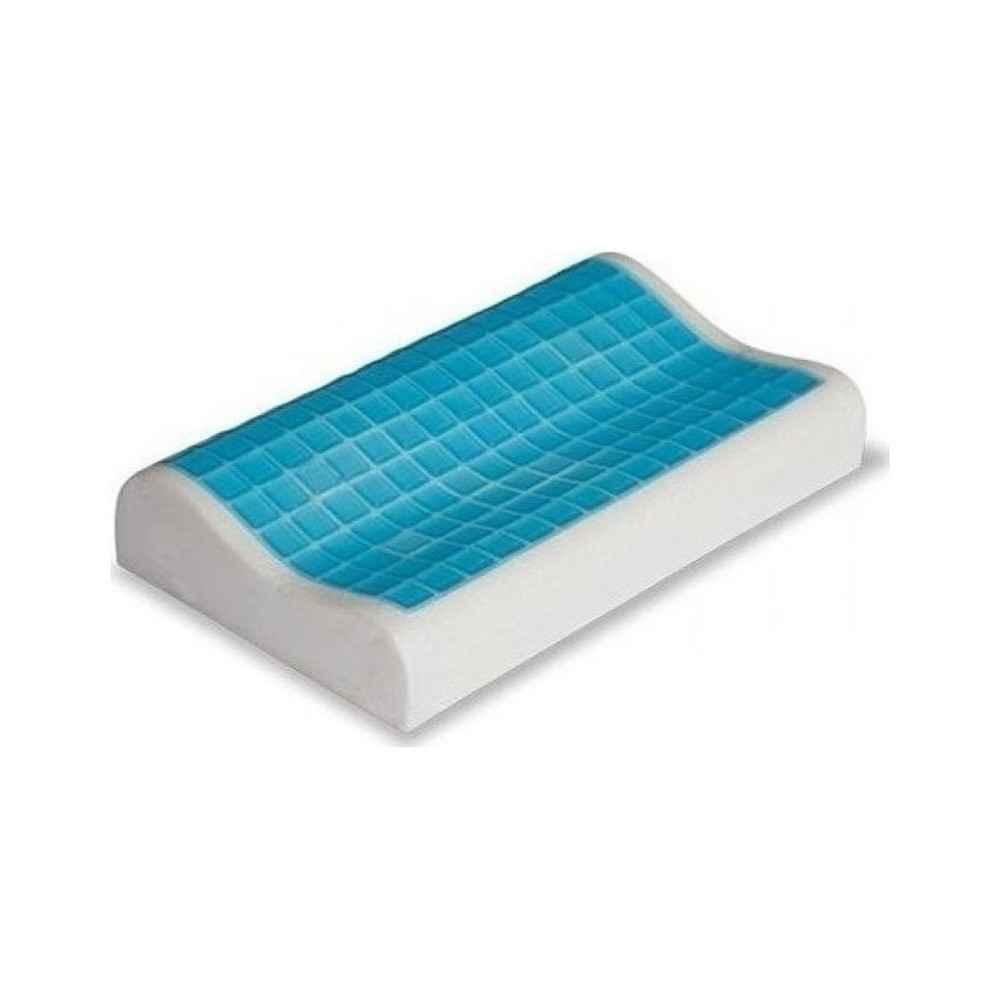 Το ανατομικό μαξιλάρι Gel memory foam έχει επίστρωση από gel που κρατά τη θερμοκρασία σε φυσιολογικά επίπεδα