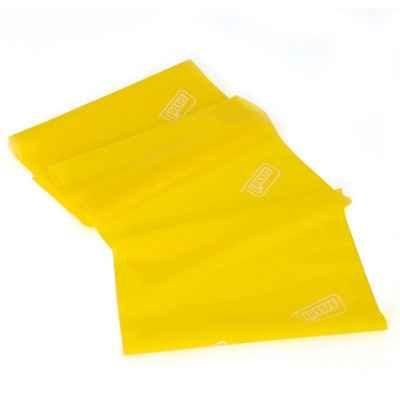Eλαστικός ιμάντας άσκησης 2.5m x 15cm Sissel Fitband Essential Light κίτρινος με ελαφρά αντίσταση