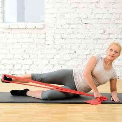 Με τους ελαστικούς ιμάντες άσκησης Sissel Fitband μπορείτε να κάνετε πλήθος ασκήσεων