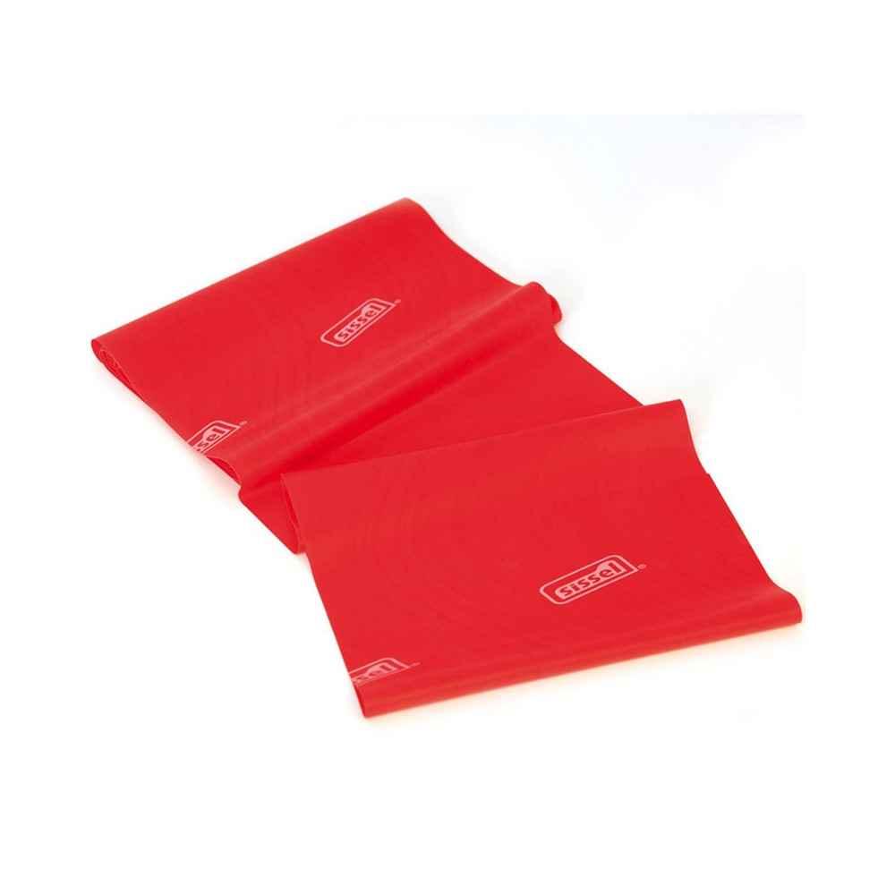 Eλαστικός ιμάντας άσκησης 2.5m x 15cm Sissel Fitband Essential Light κόκκινος με μέτρια αντίσταση