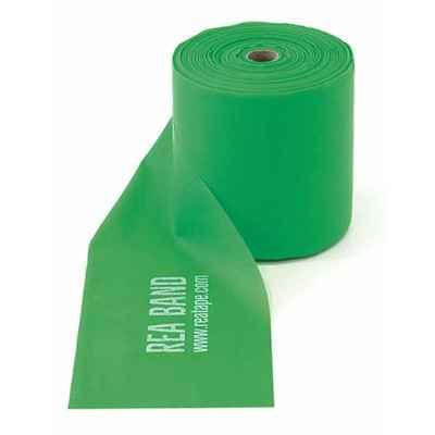 Ελαστικός ιμάντας άσκησης Rea Elastic Band πράσινος με μέτρια / μεγάλη αντίσταση