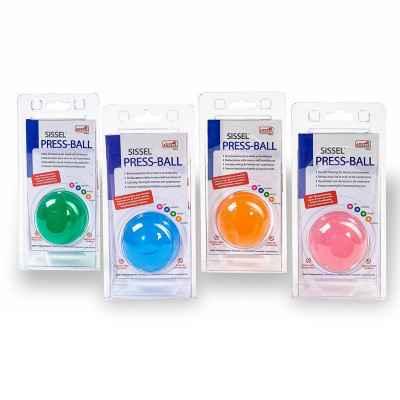 Μπαλάκι εξάσκησης χειρός Sissel Press Ball σε 4 χρώματα και αντιστάσεις