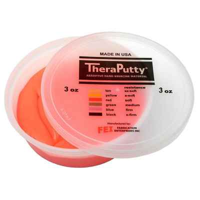 Θεραπευτική πλαστελίνη εξάσκησης CanDo® Theraputty Μαλακή - Κόκκινη