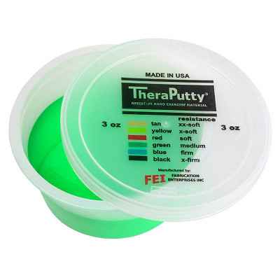 Θεραπευτική πλαστελίνη εξάσκησης CanDo® Theraputty Μέτρια - Πράσινη