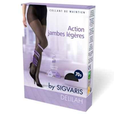 Καλσόν συμπίεσης για πρόληψη φλεβίτιδας Sigvaris Delilah 70 DEN μαύρο