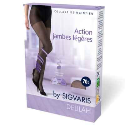 Καλσόν συμπίεσης για πρόληψη φλεβίτιδας Sigvaris Delilah 70 DEN μπεζ
