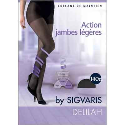 Καλσόν συμπίεσης για πρόληψη φλεβίτιδας Sigvaris Delilah 140 DEN Μαύρο