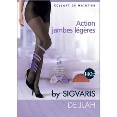 Καλσόν συμπίεσης για πρόληψη φλεβίτιδας Sigvaris Delilah 140 DEN Κάραμελ
