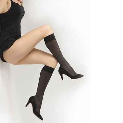 Κάλτσες κάτω γόνατος πρόληψης φλεβίτιδας Delilah 70 DEN Μαύρο