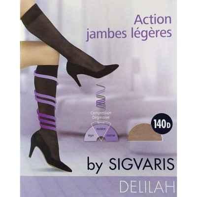 Κάλτσες κάτω γόνατος πρόληψης φλεβίτιδας Sigvaris Delilah 140 DEN Μπεζ