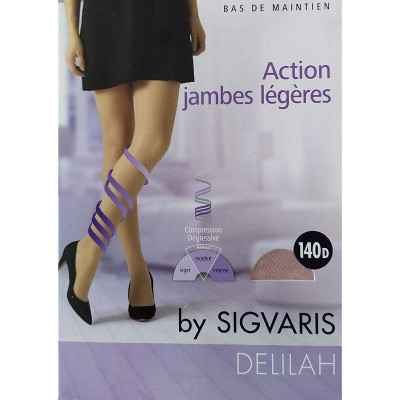 Κάλτσες ριζομηρίου πρόληψης φλεβίτιδας Sigvaris Delilah 140 DEN Μπεζ
