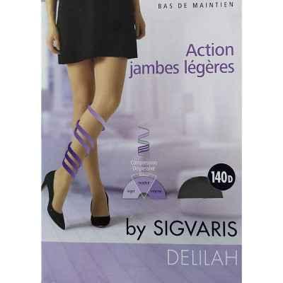 Κάλτσες ριζομηρίου πρόληψης φλεβίτιδας Sigvaris Delilah 140 DEN Μαύρο