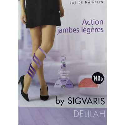 Κάλτσες ριζομηρίου πρόληψης φλεβίτιδας Sigvaris Delilah 140 DEN Κάραμελ