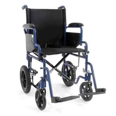 """Αναπηρικό αμαξίδιο μεταφοράς """"ECO""""  με προσθαφαιρούμενα υποπόδια και αναδιπλούμενα πλαϊνά"""