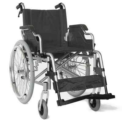 Αναπηρικό αμαξίδιο αλουμινίου με φρένα συνοδού 09-2-032