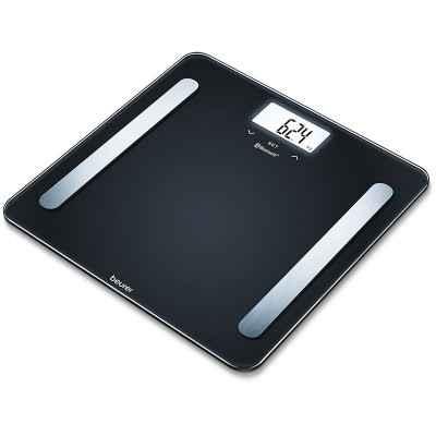 Γυάλινη ηλεκτρονική ζυγαριά - λιπομετρητής Beurer BF 600 μαύρη
