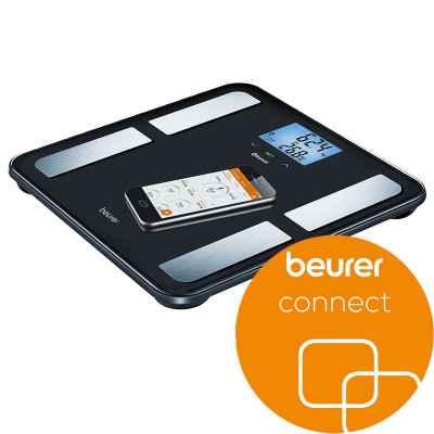 Η διαγνωστική ζυγαριά Beurer BF 850 BK συνδέεται μέσω Bluetooth με το smartphone σας