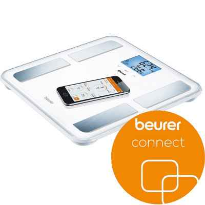 Η διαγνωστική ζυγαριά Beurer BF 850 BK μπορεί να συνδεθεί με smartphone μέσω Bluetooth