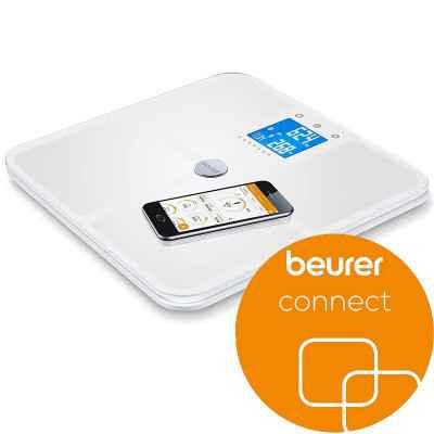 Η διαγνωστική ζυγαριά μπάνιου Beurer BF 950 με τεχνολογία Bluetooth για σύνδεση με smartphone