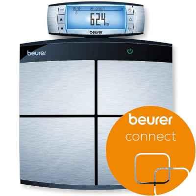 Η διαγνωστική ζυγαριά μπάνιου Beurer BF 105 BT συνδέεται με  smartphone μέσω Bluetooth®