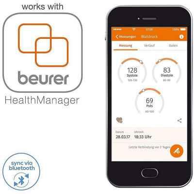 Ηλεκτρονικό πιεσόμετρο μπράτσου Beurer BM 54 Bluetooth® για σύνδεση με smartphone